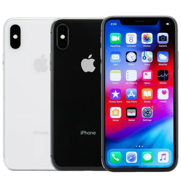 Apple iPhone X Smartphone 64GB 256GB ATamp;T Sprint T Mobile Verizon or Unlocked