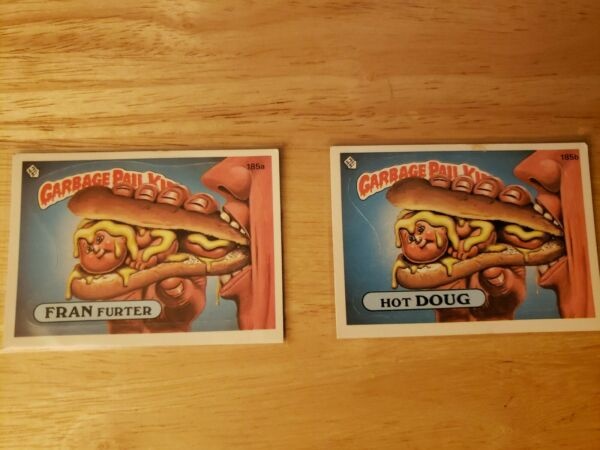 *AUTHENTIC* 1986 Garbage Pail Kid Cards #185a b Hot DOUG FRAN Furter MINT COND