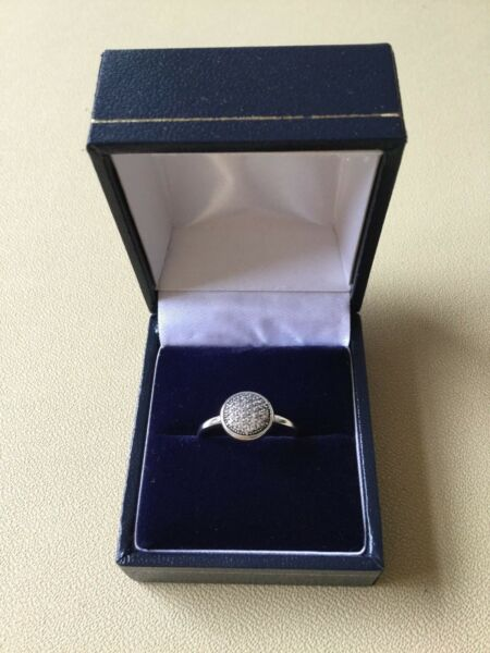 Dazzling Droplets Ring size 52 Genuine Sterling Silver S925 in gift box