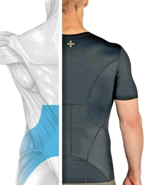 Tommie Copper Mens Lower Back Pain Brace Support Shirt Pro Fit