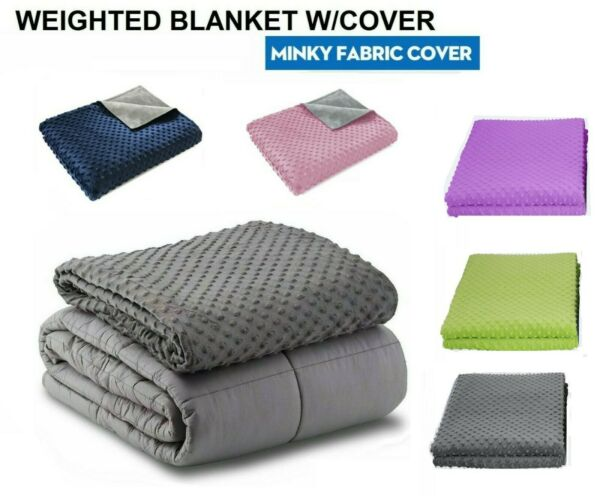 Weighted Blanket Adult Sensory Anxiety Mink Duvet 15 lbs 20 lb 25 lb