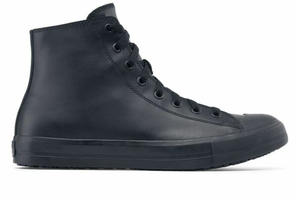 Shoes for Crews Men's Pembroke Leather High Top Slip Resistant Sneakers