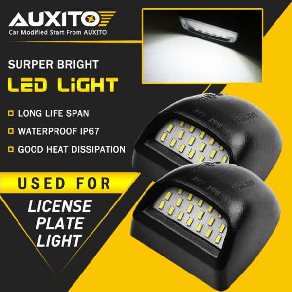 AUXITO LED License Plate Light  For 2000-2006 Chevy Tahoe Suburban GMC Yukon XL