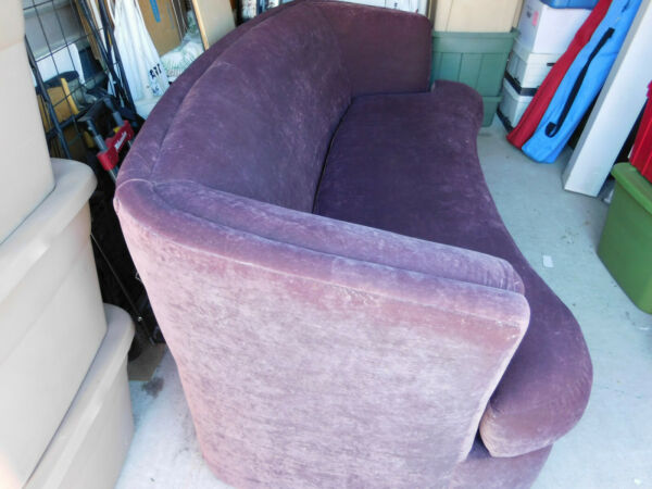 furniture sofa purple curved back $300.00