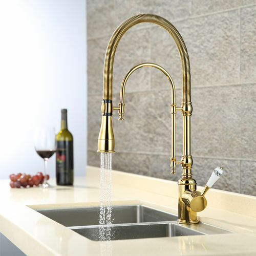 Single Handle Bathroom Kitchen Sink Faucet Swivel Head Spout Hot Cold Mixer Tap