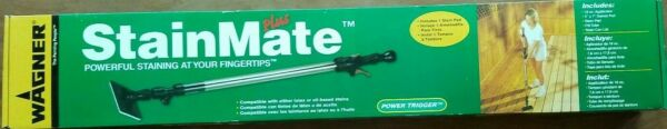 New WAGNER STAIN MATE PLUS DECK STAINING APPLICATION TOOL LATEX OIL WOOD