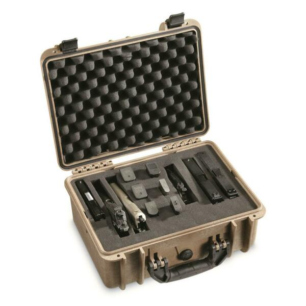 Handgun Carry Case Pistol Ammo Magazines Carrying Protected Molded Plastic 8 lb
