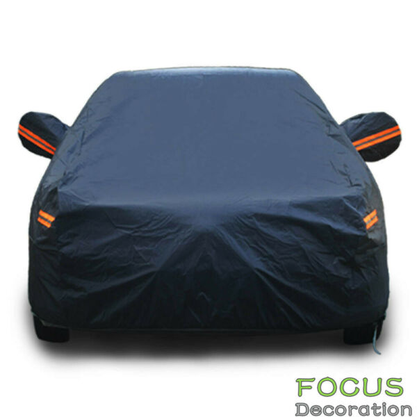 3XXL Breathable PEVA Full Car Cover Rain UV Dust Snow Resistant Universal Fit