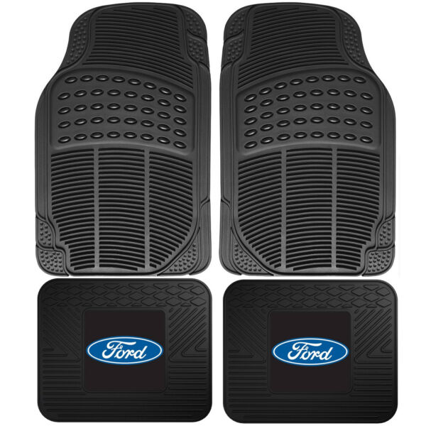 4pc Front Rear Car Truck All Weather Rubber Floor Mats Set FORD Logo Utility $42.97