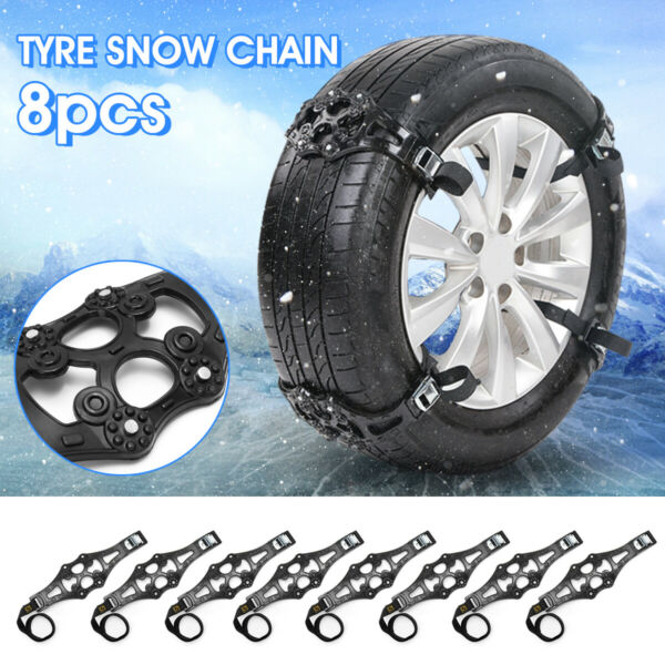 8pcs Winter Truck Car Tire Wheel Safety Snow Chain Tyre Anti-skid Belt Strap