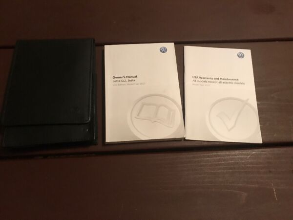 2017 Volkswagen Jetta GLI Owners Manual With Case OEM Free Shipping