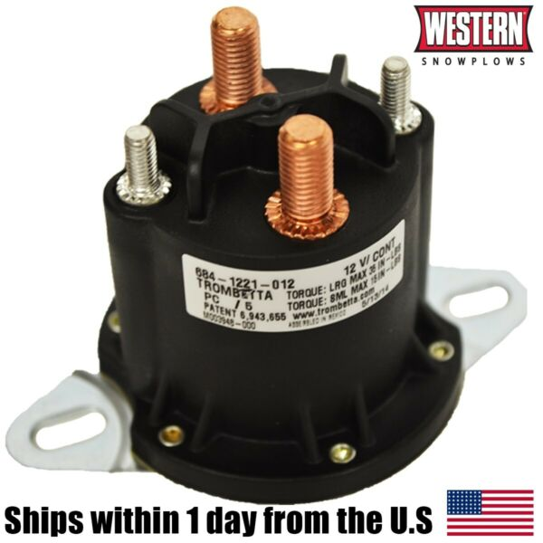 Genuine Original Western Snow Plow Motor Relay Solenoid Kit Snowplow 56131K