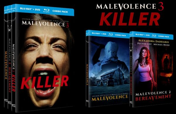 Malevolence Trilogy Blu-rayDVD set - Autographed by director •new