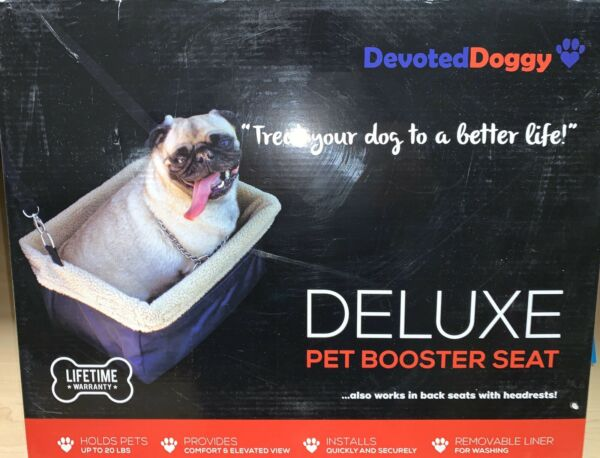 DEVOTED DOGGY Deluxe Dog Booster Car Seat Premium Metal Frame Construction $16.00