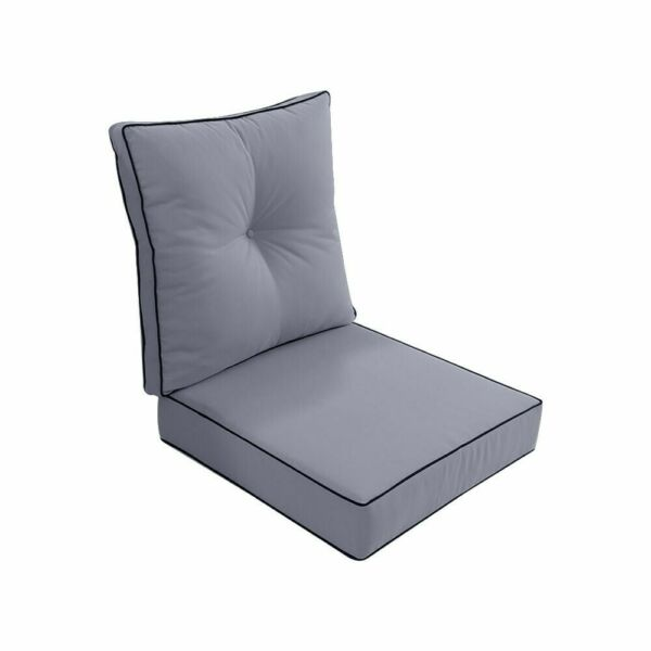 Love Sofa Deep Seat Back Rest Cushion Pillow Outdoor S3 Light Grey 24x24x5 Inch $76.77