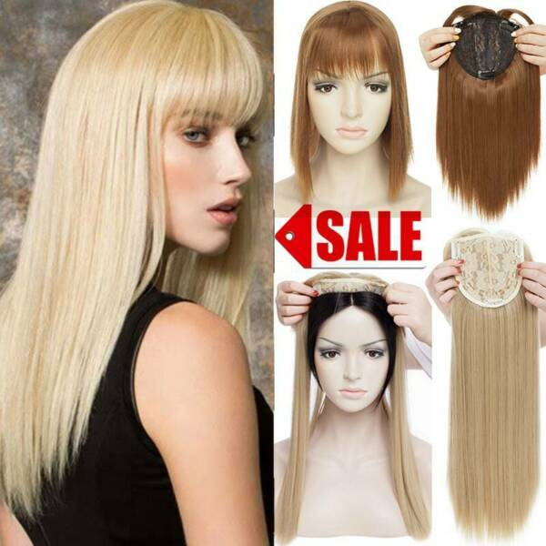 For Human Blonde Mix Topper Hair Extension On Bangs Clip In Closure Hair Toupees