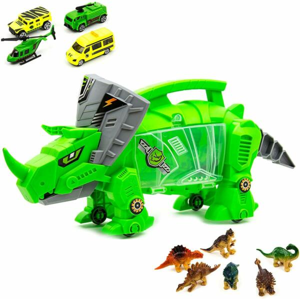 Toysery Portable Dinosaur Storage Toy Carrier with Wheels for Kids Gift For kids $31.99