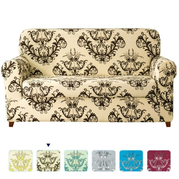 Subrtex Sofa Slipcovers Stretch Covers 2 Piece Elastic Furniture Covers Protect $32.99