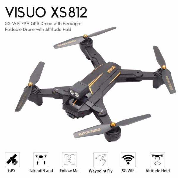 VISUO XS812 RC Quadcopter Surround Flight GPS 5G Wifi 1080P Camera Drone US I8Y6