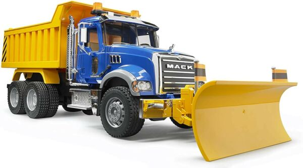 NEW Bruder MACK Granite Dump Truck with Snow Plow Blade 02825