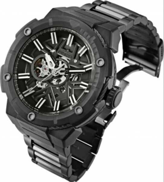 Invicta Bolt Automatic Open Heart Stainless Steel Watch Integrated Cable Design