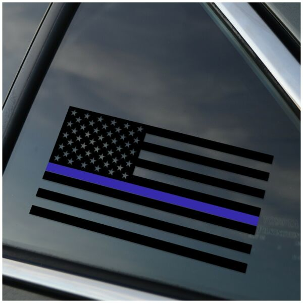 Thin Blue Line Police Support Back the Blue Car Decal Sticker $8.49