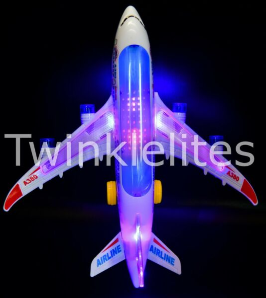 Toy Airplane Model Bump And Go Boys Avion Airbus Light Up Music Jet A380