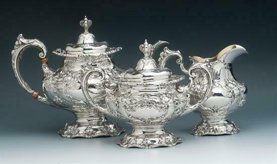 Francis I by Reed & Barton Sterling Silver 3 piece Tea Set Hand Chased