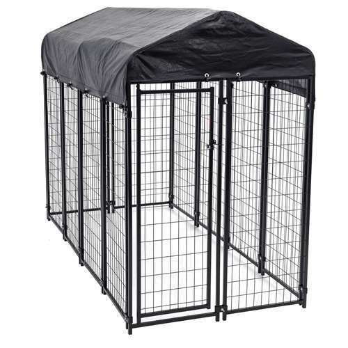 Lucky Dog Uptown Large Welded Kennel Heavy Duty Dog Cage (Open Box) (6 Pack)
