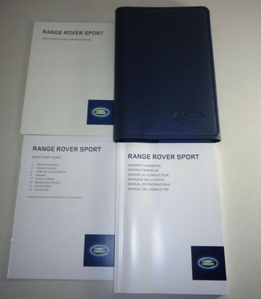 Document Kit + Manual Owner's Manual + Wallet Range Rover Sport Stand 2013