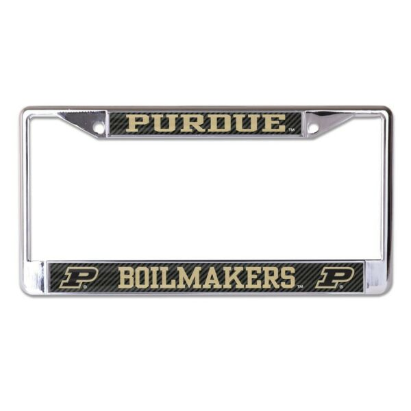 PURDUE BOILERMAKERS CARBON BACKGROUND 6quot;X12quot; METAL LICENSE PLATE FRAME WINCRAFT $20.00