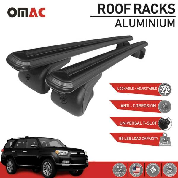 Roof Rack Cross Bars Luggage Carrier Black Set for Toyota 4Runner 2010 2021 $84.92