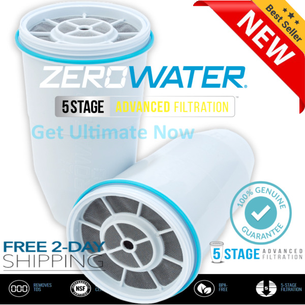 NEW Zero Water Replacement Water Filter Cartridges 12345 PACK