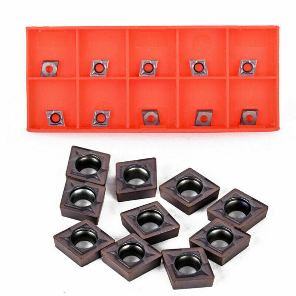 10PCS CCMT060204 Carbide Blades Inserts CCMT0602 For Lathe Turning Tool Holder