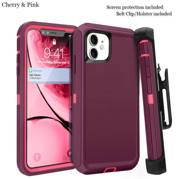 For iphone 11 Case Cover wScreen & Clip fit Otterbox Defender