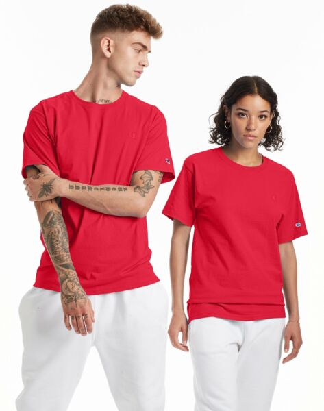 Champion Mens Classic Jersey Tee T-Shirt Athletic Fit Ringspun Short Sleeve 0223 $11.27