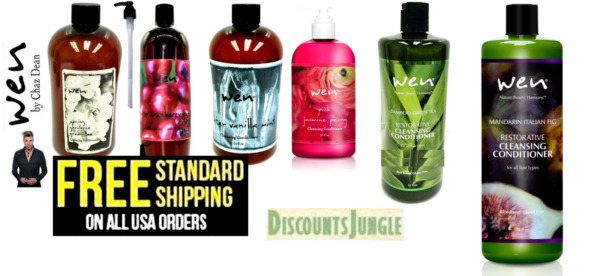 WEN by Chaz Dean 16oz or 32oz  Cleansing Conditioner Shampoo Replacement + Pump