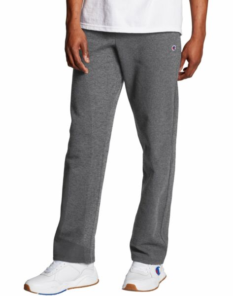 Champion Sweatpant Fleece Men Open Bottom Powerblend Sweat Elastic Waist Relaxed