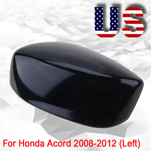 US Left Driver Side Mirror Cover Cap for HONDA ACCORD 2008-2012 Shiny Black