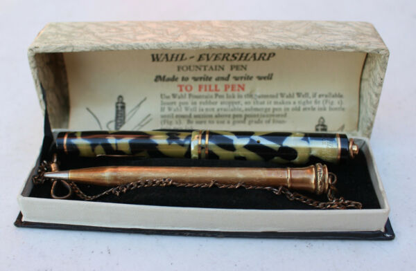 Vintage Wahl Eversharp Fountain pen 14kt #2 Nib amp; Gold Filled Mechanical Pencil