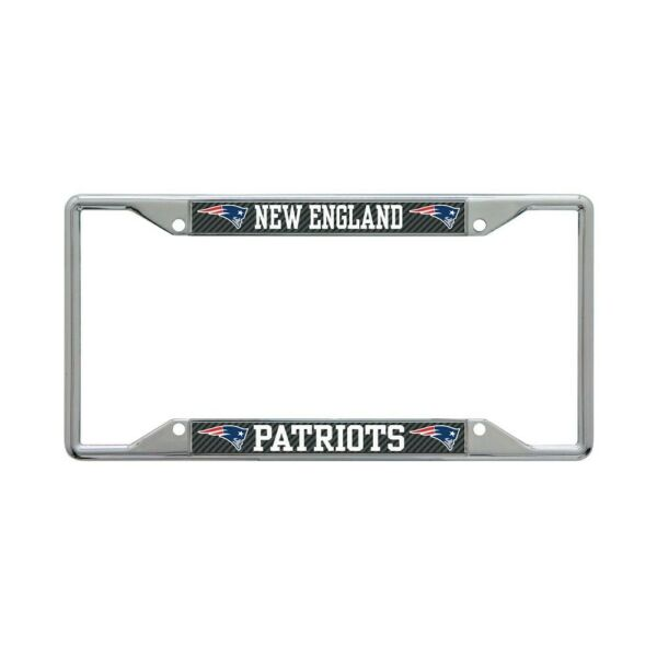 NEW ENGLAND PATRIOTS CARBON BACKGROUND 6quot;X12quot; METAL LICENSE PLATE FRAME WINCRAFT $20.00