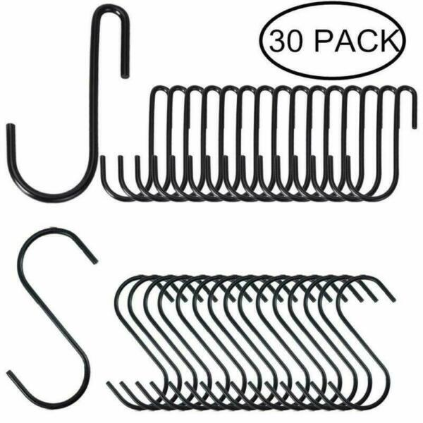 30 Pack Heavy Duty S Hooks Stainless Steel S Shaped Hooks Hanging Hangers  Metal