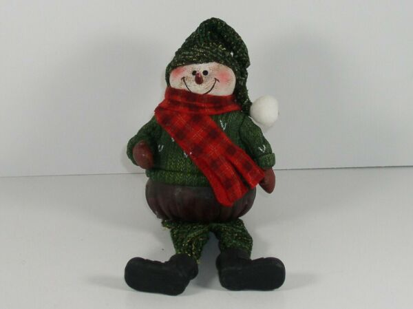 Fireplace Mantel Christmas Holiday Snowman Resin Figure Decoration NEW