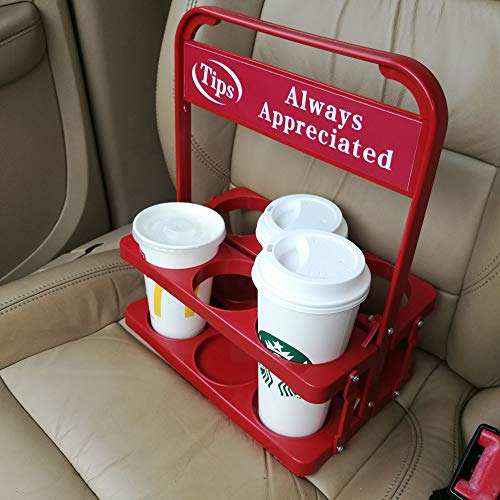 Foldable Plastic Beverage Carrier for Grubhub Ubereats Doordash Postmates