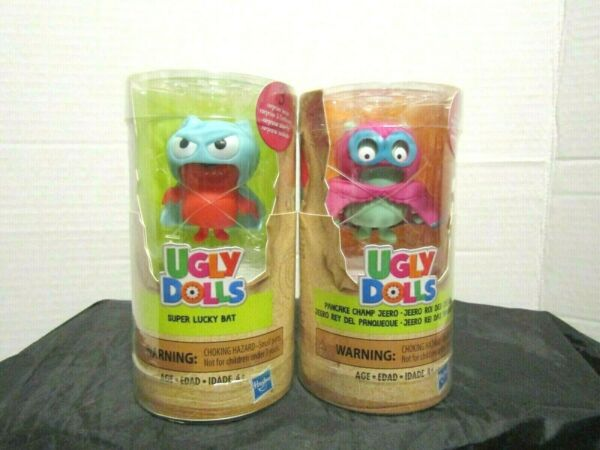 Ugly Dolls Surprise Tubes Super Lucky Bat & Pancake Champ Jeero  Lot of 2   NEW