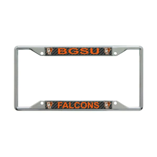 BOWLING GREEN STATE FALCONS CARBON BACKGROUND 6quot;X12quot; METAL LICENSE PLATE FRAME $20.00