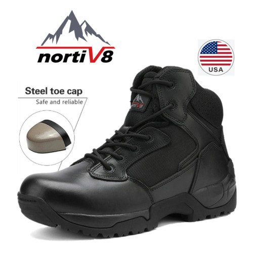 NORTIV 8 Mens Work Safety Shoes Steel Toe Indestructible Military Tactical Boots $49.39