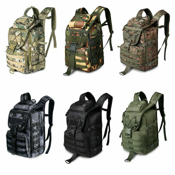 Tactical bag Hiking Camping assault backpack army military camping Moll 36L camo