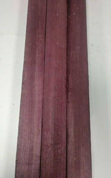 LOT OF 3 PIECES PURPLEHEART THIN STOCK BOARDS LUMBER CRAFTS WOOD 18