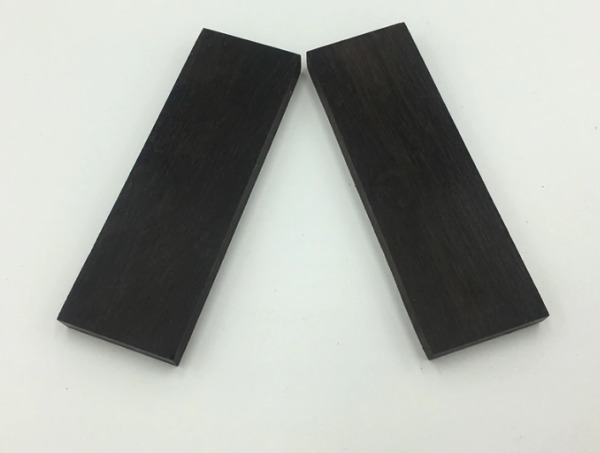 Africa Ebony Wood Craft Knife Handle Scales Blanks 2 PIECES DIY Wood Material $17.99